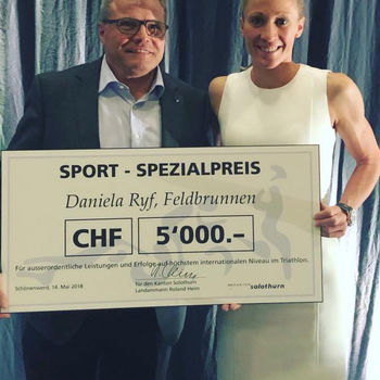 Special Sport Prize for Daniela Ryf, Solothurn